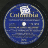 【SP盤】GB COL LX363 MARGUERITE LONG SYMPHONY FOR ORCHESTRA AND PIANOFORTE(ON A FRENCH MOUNTAINEER S SONG)