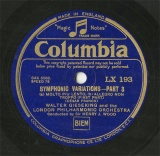 【SP盤】GB COL LX193 WALTER GIESEKING SYMPHONIC VARIATIONS PART3/PART4