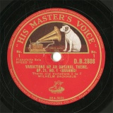 【SP盤】GB HMV D.B.2808 WILHELM BACKHAUS VARIATION ON AN ORIGINAL THEME Theme and Variations 1to7/Variations 8to11