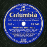 【SP盤】GB COL LX649 WALTER GIESEKING CONCERTO PART5/PART6