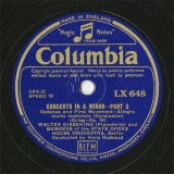 【SP盤】GB COL LX648 WALTER GIESEKING CONCERTO