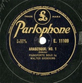 【SP盤】GB PARLO E.11109 WALTER GIESEKING ARABESQUE,NO.1/NO.2