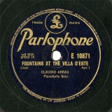 【SP盤】GB PARLO E10871 CLAUDIO ARRAU FOUNTAINS AT THE VILLA D ESTE