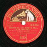 【SP盤】GB HMV D.B.2577 ALFRED CORTOT&CHARLES MUNCH CONCERTO NO.4(1st Movement Part1/Part2)
