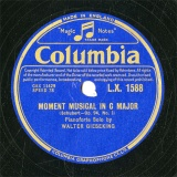 【SP盤】GB COL L.X.1588 WALTER GIESEKING MOMENT MUSICAL
