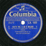 【SP盤】GB COL L.X.1532 WALTER GIESEKING SUITE NO.5