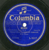 【SP盤】GB COL L2117 GASPAR CASSADO MELODIE/SONGS WITHOUT WORDS IN D(LIED OHNE WORTE)