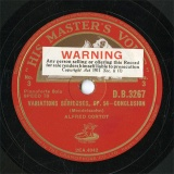 【SP盤】GB HMV D.B.3267 ALFRED CORTOT VARIATIONS SERIEUSES-CONCLUSION/SONGS WITHOUT WORDS No.1
