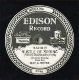 【SP盤】US EDI 51218 MAY A.MEYER RUSTLE OF SPRING(FRUHLINGSRAUSCHEN)/MURMURING ZEPHYRS(TRANSCRIPTION)