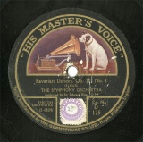 【SP盤】GB HMV D175 THE SYMPHONY ORCHESTRA Bavarian Dances
