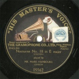 【SP盤】GB HMV 5562 MARK HAMBOURG Nocturne No.18