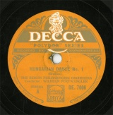 【SP盤】GB DEC DE.7006 WHILHELM FURTWANGLER HUNGARIAN DANCE No.1/No.3