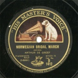 【SP盤】GB HMV D1412 ARTHUR DE GREEF NORWEGIAN BRIDAL MARCH/SOIREE DE VIENNE