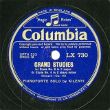【SP盤】GB COL LX730 KILENYI GRAND STUDIES Etude No.8/No.4/No.3