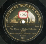【SP盤】GB HMV 111 H.M.Band of the Coldstream Guards Miss Hook of Holland Serection