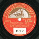 【SP盤】GB HMV D.B.3900-2 SERGE KOUSSEVITZKY PETER AND THE WOLF-PART1/PART2