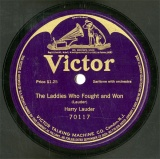 【SP盤】US HMV 70117 Harry Lauder The Laddies Who Fought and Won