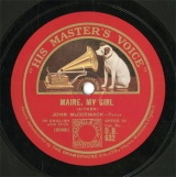 【SP盤】GB HMV D.B.632 JOHN McCORMACK MAIRE,MY GIRL/TURN YE TO ME