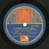 【SP盤】GB HMV RCS.2811 H.M.KING GEORGE V. A MESSAGE TO THE EMPIRE