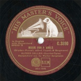 【SP盤】GB HMV C.3890 ALFRED DELLER MUSIC FOR A WHILE/IF MUSIC BE THE FOOD OF LOVE