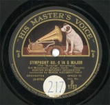 【SP盤】GB HMV D1737 SERGE KOUSSEVITSKY SYMPHONY NO.6 3rd Movement/4th Movement