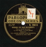 【SP盤】GB  PARLO R.20613 KARL HAAS MARCHES FOR WIND INSTRUMENTS Pour la Garde Nationale (a)Slow March/(b)Quick March