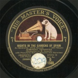 【SP盤】GB HMV D1569 Van Barentzen NIGHTS IN THE GARDENS OF SPAIN