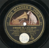 【SP盤】GB HMV D1736 SERGE KOUSSEVITSKY SYMPHONY NO.6 2nd Movement