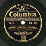 【SP盤】GB COL D.X.643 LONDON CHURCH CAROL CHOIR CHRISTMAS CAROLS-VOCAL GEMS.PART1/PART.2