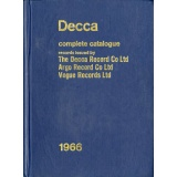 GB  RCA  1966 DECCA COMPLETE CATALOGUE RECORDS ISSUED BY THE DECCA RECORD CO LTD NOT FOR SALE DECCA LIST BOOK