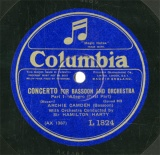 【SP盤】GB COL L1824 ARCHIE CAMDEN&HAMILTON HARTY CONCERTO FOR BASSOON AND ORCHESTRA PART1/PART2
