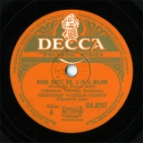 【SP盤】GB DEC CA.8217 WHILHELM KEMPFF BACH SUITE NO.5