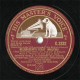 【SP盤】GB HMV C.3332 WILLIAM WALTON BELSHAZZAR S FEAST Part.5/Part.6