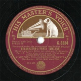 【SP盤】GB HMV C.3334 WILLIAM WALTON BELSHZZAR S FEAST Part.9/Part.10