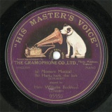 【SP盤】GB HMV 05550 Wilhelm Backhaus Moment Musical/Hark,Hark,the lark