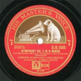 【SP盤】GB HMV D.B.1555 ARBERT COATES SYMPHONY NO.2 2nd Movement/3rd Movement