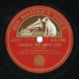 【SP盤】GB  HMV D.A.1342 JOHN McCORMACK CLUTSAM IKNOW OF TWO BRIGHT EYES