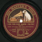 【SP盤】GB  HMV B5602 JACK HYLTON I KISS YOUR HAND