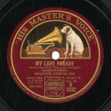 【SP盤】GB  HMV B3332 MAURICE CHEVALIER NOBODY S USING IT NOW/MY LOVE PARADE
