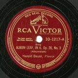 【SP盤】GB  RCA 10-1217 Harold Bauer ALBUM LEAF, IN A/BERCEUSE