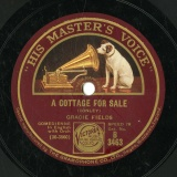【SP盤】GB  HMV B 3463 GRACIE FIELDS A COTTAGE FOR SALE / CONLEY