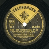 【SP盤】GB TELEFUNKEN GX.61010-2 JOSEPH KEILBERTH REGER VIER TONDICHTUNGEN, OP.128 (Four tone poems after Arnold Bocklin)