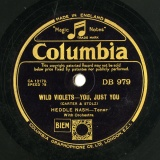 "【SP盤】GB COL DB 979 HEDDLE NASH CARTER&STOLZ WILD VIOLETS -YOU, JUST YOU/EYTON&SPOLIANSKY TELL ME TONIGHT (THEME SONG, ""TELL ME TONIGHT"")"