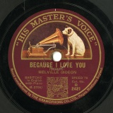 【SP盤】GB HMV B 2421 MELVILLE GIDEON BERLIN BECAUSE I LOVE YOU/WAYNE IN A LITTLE SPANISH TOWN