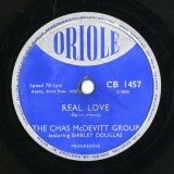 【SP盤】GB ORIOLE CB 1457 THE CHAS McDEVITT GROUP&SHIRLEY DOUGLAS Darin-Harris REAL LOVE/McDevitt JUKE BOX JUMBLE