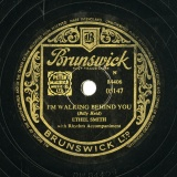 【SP盤】GB BRUNSWICK 05147 ETHEL SMITH Billy Reid I M WALKING BEHIND YOU/Ferrao;Larue APRIL IN PORTUGAL