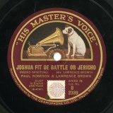 【SP盤】GB HMV B 2339 PAUL ROBESON&LAWRENCE BROWN Arr. LAWRENCE BROWN JOSHUA FIT DE BATTLE OB JERICHO/SWING LOW, SWEET CHARIOT
