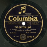 【SP盤】GB COL 2082 R CARRIE HERWIN F.H. Cowen THE BETTER LAND/THE CHILDREN S HOME