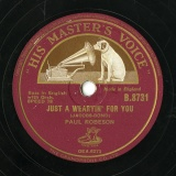 【SP盤】GB HMV B.8731 PAUL ROBESON JACOBS-BOND JUST A WEARYIN  FOR YOU/CADMAN AT DAWNING