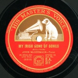 【SP盤】GB HMV D.A.311 JOHN McCORMACK SULLIVAN MY IRISH SONG OF SONGS/Sanders MY LITTLE TOWN IN THE OULD COUNTY DOWN